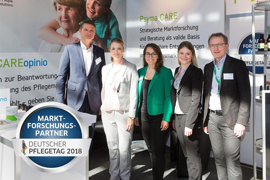 Marktforschung für den Pflegemarkt - Stand des Ausstellers Psyma auf dem Deutschen Pflegetag